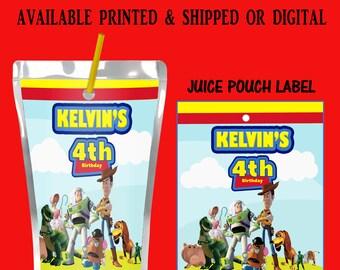 Toy Story Capri Sun Label - Toy Story Juice Pouch Label - Toy Story Theme Party - Toy Story Party Favors - Digital File - Party Printables