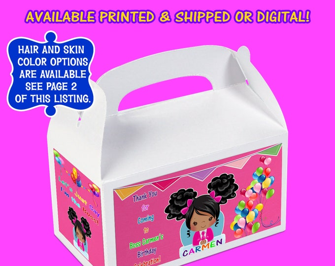 Boss Baby Favor Box - Custom Gable Box - Boss Baby - Boss Baby Stickers- Boss Baby Gable Box- Digital- Printable- Printed