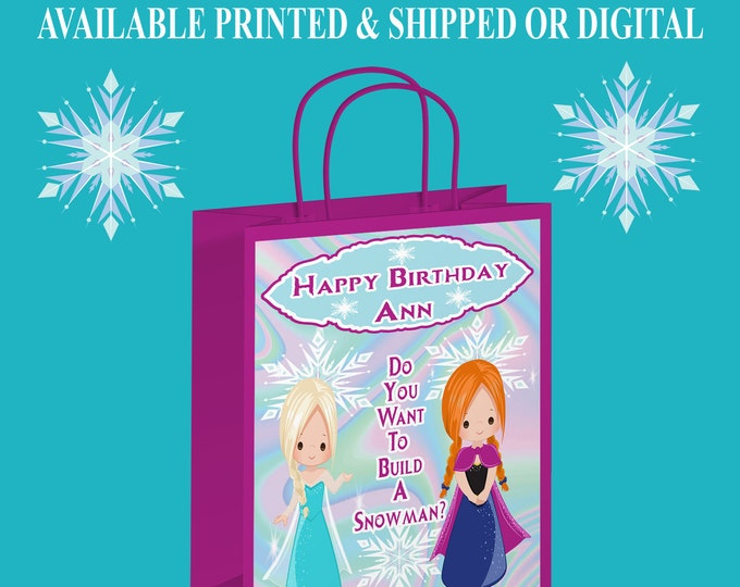 Frozen Gift Bag Label - Frozen Label - Gift Bag - Frozen Party Printables - Digital File - Party Printable
