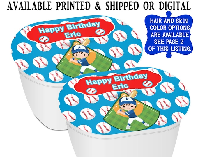 Baseball Stacked Chips - Potato Chip Snack Stack - Baseball Party Favors - Baseball Birthday - Snack Stacks - Digital - Party Printables