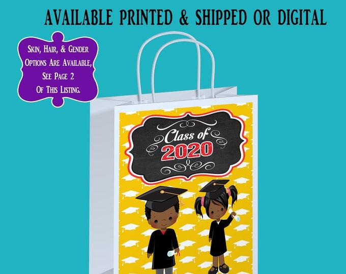 Kids Graduation Gift Bag Label - Graduation Party - Graduation Celebration - Gift Bag Label - Kids Graduation - Digital - Party Printable
