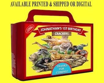 Animal Cracker Box Label - Newly Designed Box - Carnival Theme Party - Animal Theme Party - Circus Theme - Digital File - Party Printable