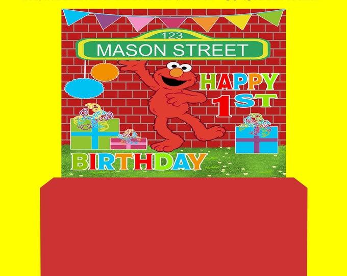 Sesame Street Backdrop - Sesame Street Banner - Sesame Street Party Favor - Birthday Party - Elmo Party - Digital File - Printed