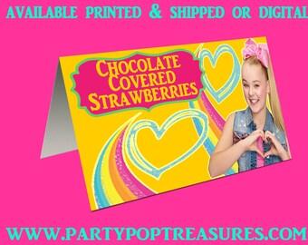 JoJo Siwa Tent Cards, JoJo Siwa, Party Printables, JoJo, Party Favors, Candy Favors, Digital, Printed