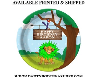 Lion King Dessert Plate - Custom Paper Plate - Lion King Party - Lion King Theme - Digital - Printed - Party Printable