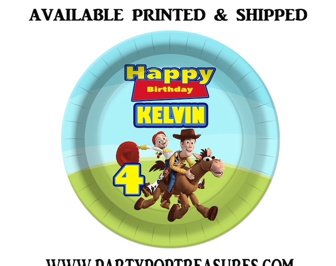 Toy Story Dessert Plate - Custom Paper Plate - Toy Story Party - Toy Story Theme - Digital - Printed - Party Printable