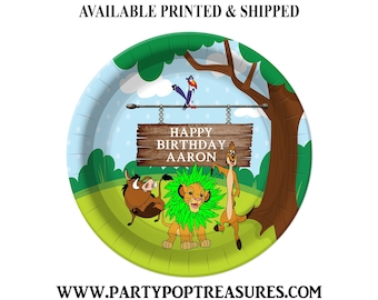 Lion King Dinner Plate - Paper Plate - Custom Paper Plate - Lion King Party - Lion King Theme - Digital - Printed - Party Printable