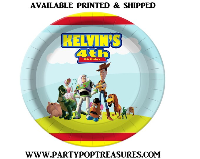 Toy Story Dinner Plate - Paper Plate - Custom Paper Plate - Toy Story Party - Toy Story Theme - Digital - Printed - Party Printable