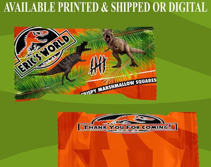 Jurassic World Rice Krispy Treat Wrapper - Jurassic World Party - Jurassic World Theme - Party Favor - Digital - Party Printable - Printed