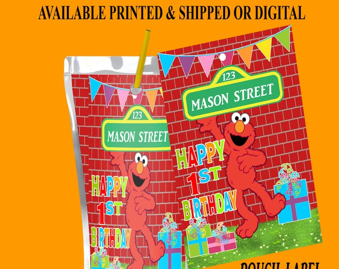 Sesame Street Juice Pouch Label - Sesame Street - Juice Pouch Label - Capri Sun Label - Digital - Party Printable - Printed