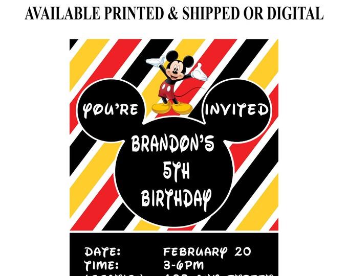 Mickey Mouse Invitation - Mickey Mouse - Mickey Mouse Birthday Party - Birthday Party Invitation - Digital - Printable - Party Printables