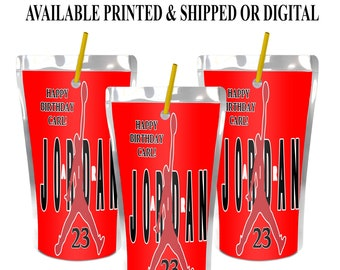 Jordan Capri Sun Label - Jordan Juice Pouch Label - Air Jordan - Basketball - Digital File - Party Printable