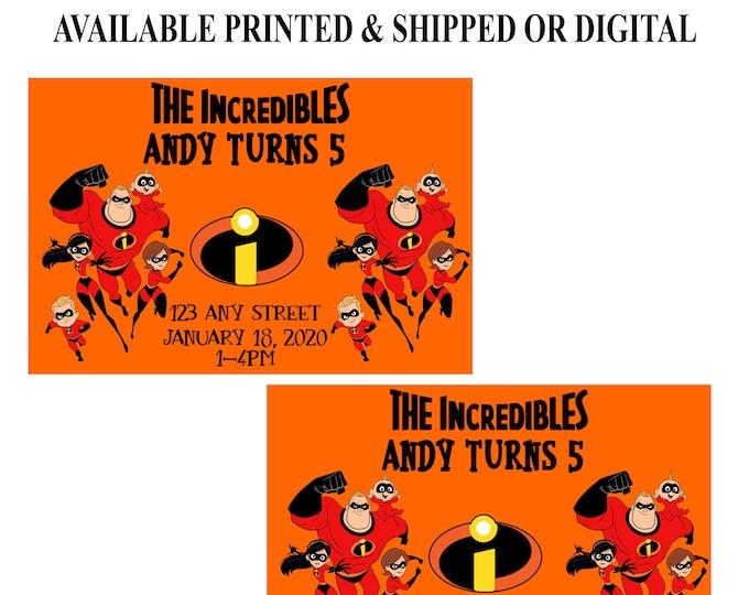 The Incredibles Invitation - Incredibles Invitation - Incredibles Birthday Party - Digital - Printable - Party Printables
