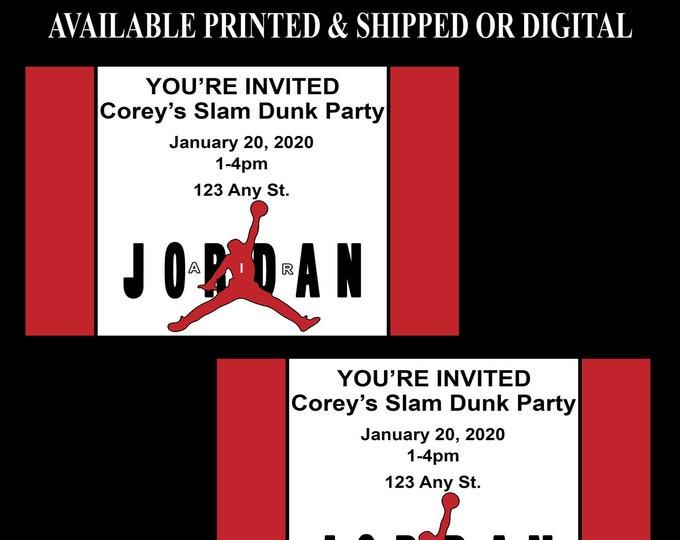 Air Jordan Invitation - Jordan Invitation - Jordan Birthday Party - Air Jordan - Jump Man - Digital - Printable - Party Printables