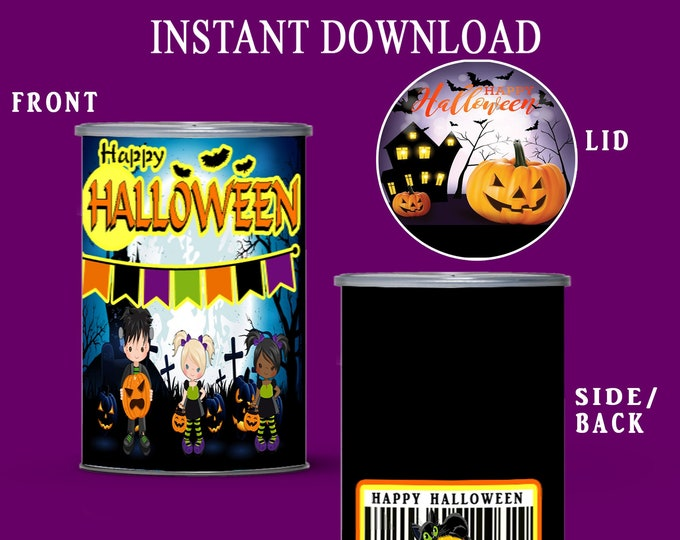 Halloween Pringles Label - INSTANT DIGITAL DOWNLOAD - Halloween Party - Party Favors - Party Printable - Digital - Printed