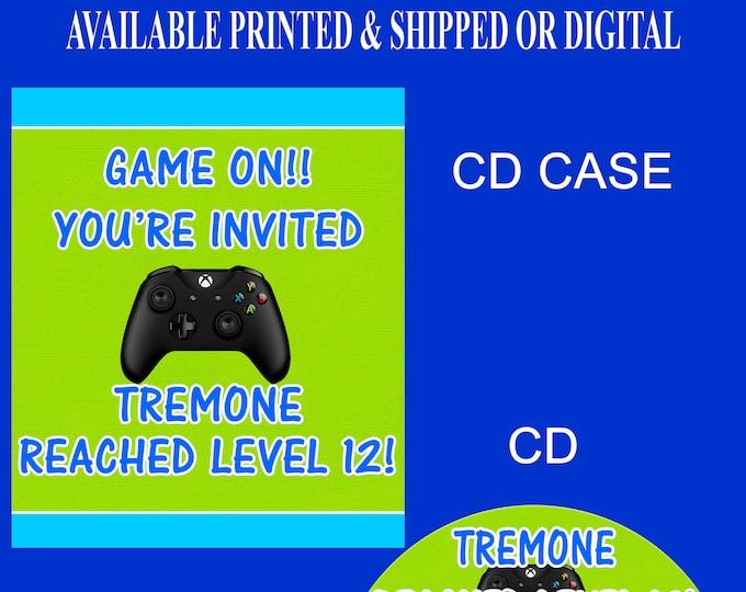 Video Gamer Invitation - Gamer Invitation - Video Game Party - Video Game Party Invitation - Party Invitation - Digital File - Printed
