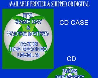 Video Gamer Birthday Invitation - Gamer Invitation - Video Game Invitations - Video Game Party Invitation - Printed - Digital File