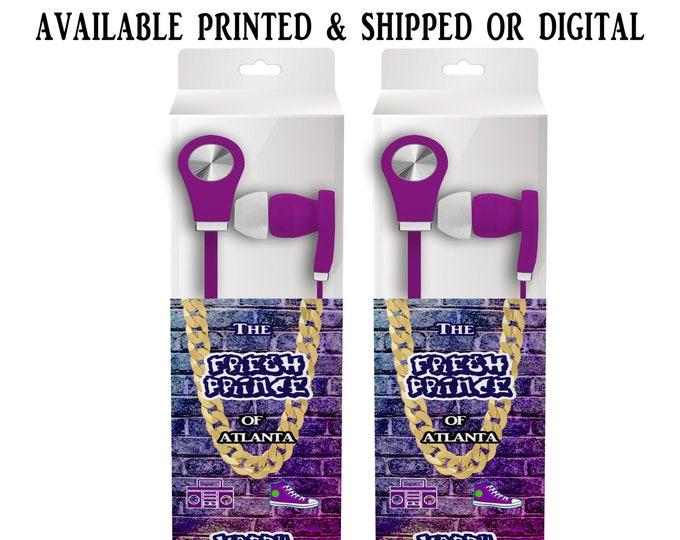 Fresh Prince Earbud Label - Headphone Labels - Fresh Prince - Custom Party Favors - Goody Bags - Party Printables - Digital - Printed