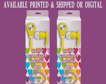 VSCO Earbud Label - Headphone Labels - VSCO Headphone Labels - VSCO - Custom Party Favors - Party Printables - Digital - Party Printables