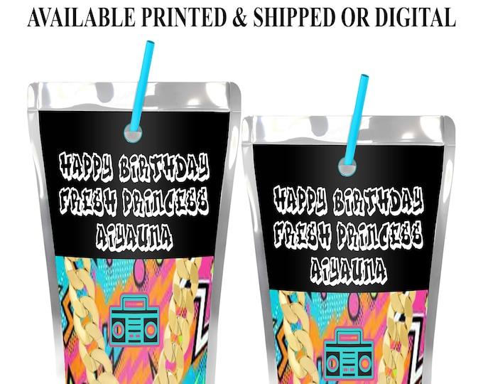 Fresh Princess Capri Sun Label - Fresh Princess Juice Pouch Label - Fresh Princess Party Favor - Digital - Party Printable - Printed