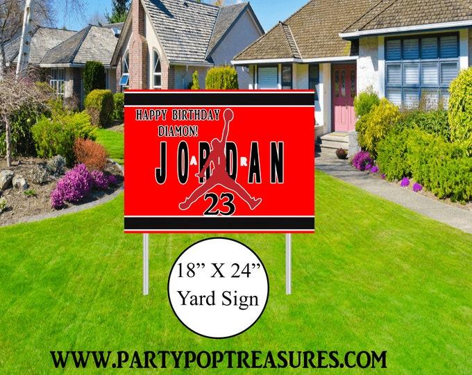 Jordan Yard Sign - Jordan Themed Party - Jordan Lawn Sign - Party Printables - Yard Sign - Lawn Sign - Digital File