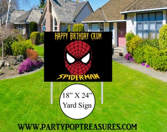 Spiderman Yard Sign - Spiderman Themed Party - Spiderman Lawn Sign - Party Printables - Yard Sign - Lawn Sign - Digital File