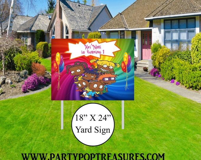 Rugrats Yard Sign - Rugrats Themed Party - Rugrats Lawn Sign - Party Printables - Yard Sign - Lawn Sign - Digital File