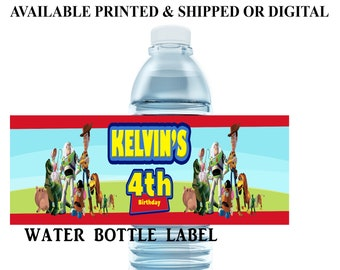Toy Story Water Bottle Label - Toy Story - Water Bottle Label - Toy Story Party Favors - Digital File - Printed - Party Printable