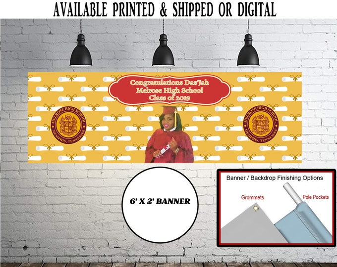 Graduation Banner - Graduation - Party Favor - Graduation Party - Digital File - Printed - Party Printables