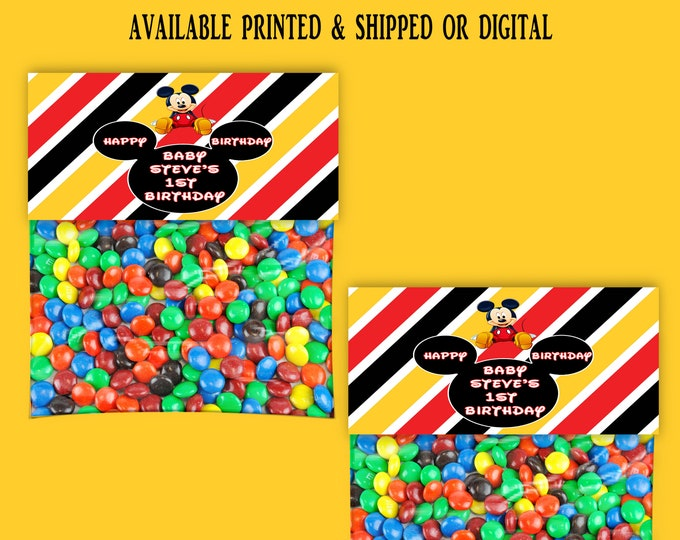 Mickey Mouse Treat Bag Topper - Bag Toppers - Tent Fold Labels - Favor Bag Topper - Treat Bag Topper - Party Favor - Digital -  Printable