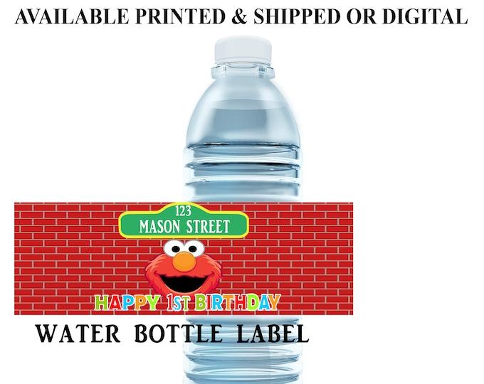 Sesame Street Water Bottle Label - Water Bottle Label - Capri Sun Label - Sesame Street Party Printables - Digital File - Party Printables