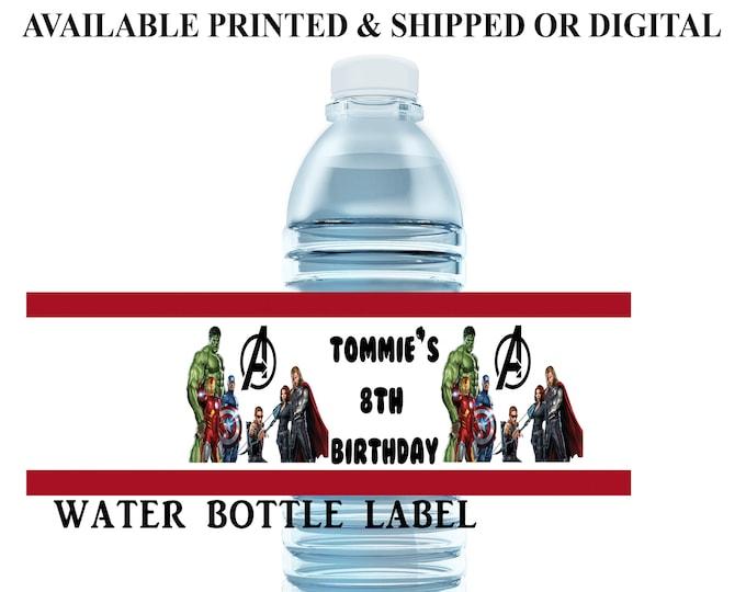 Avengers Water Bottle Label - Water Bottle Label - Capri Sun Label - Avengers Party Favor - Digital File - Party Printables