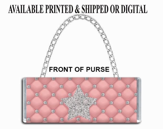Quilted Print Candy Bar Purse - Candy Bar Clutch Purse - Purse Party Favor - Candy Purse Party Favor - Party Printables - Printed
