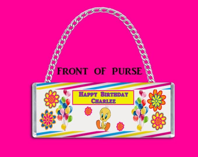 Tweety Bird Candy Bar Purse - Candy Bar Clutch Purse - Purse Party Favor - Custom Party Favors - Candy Bar Purse - Party Printable - Digital
