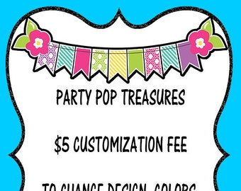 Add On Fee for Customization of Design, Colors, Layout, or Photo Addition (No Background Removal)