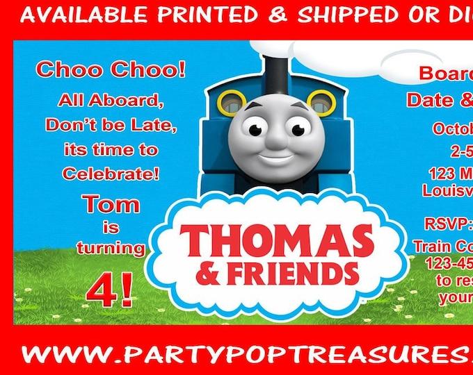 Thomas the Train Birthday Party - Thomas the Train Invitation - Thomas the Train - Printed - Digital - Party Printable