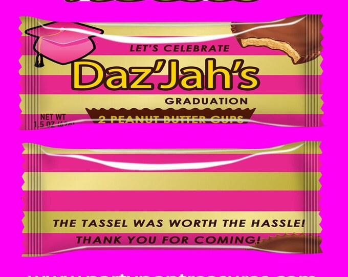 Graduation Candy Bar Wrapper - Graduation Favor Wrapper - Graduation Party - Graduation - Digital - Printed - Party Printables