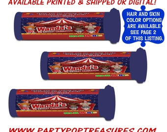 Circus Candy Favor - Party Favors - Favor Bags - Circus Party - Digital - Printed - Party Printables - Printable