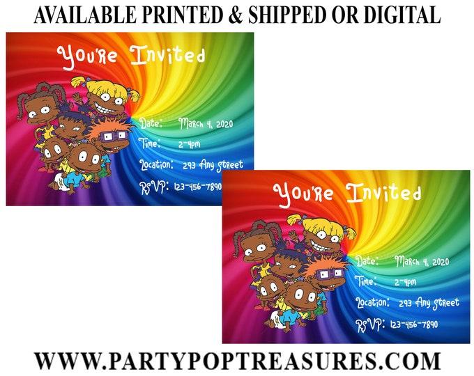 Rugrats Invitation - Rugrats - Rugrats Birthday Party - Birthday Party Invitation - Digital - Printable - Party Printables