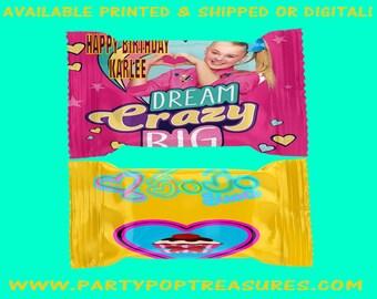 JoJo Rice Krispy Treats - JoJo Party Favor - Custom Party Favor - Favor Bags - Digital File - Party Printables - Printed