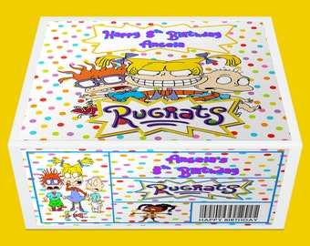 Rugrats Favor Box - Rugrats Favor Box Label - Gift Box Label - Rugrats Party Printable - Digital File - Printed - Party Printable