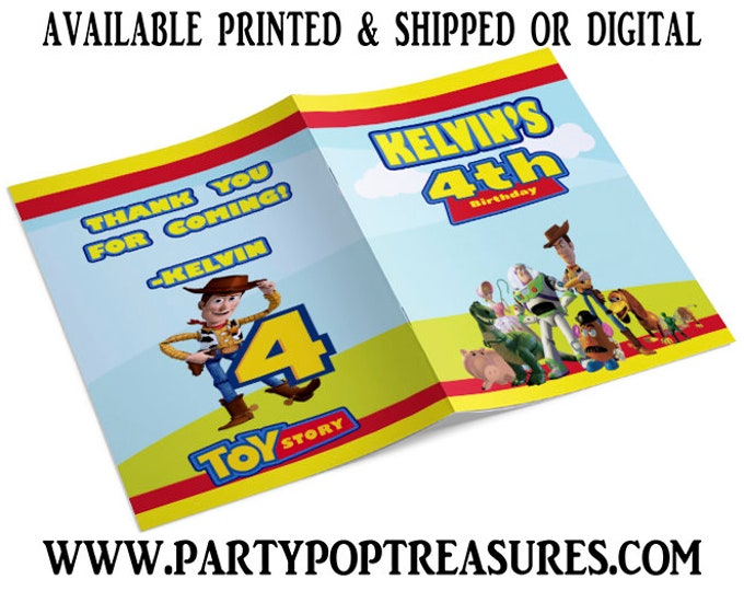 Toy Story Coloring Book for Kids Birthday Party - Toy Story Theme - Party Favor - Custom Coloring Book - Digital - Party Printable - Printed