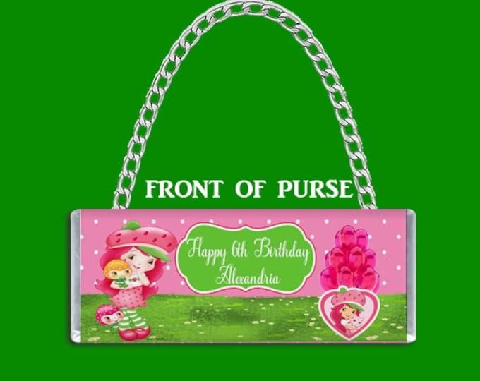 Strawberry Shortcake Candy Bar Purse - Candy Bar Clutch Purse - Purse Party Favor -Strawberry Shortcake Party Favor - Party Printable