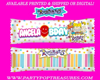 Rugrats Airhead Wrappers - Rugrats Taffy Favors - Rugrats Candy Favors - Rugrats Party - Digital - Party Printables - Printed