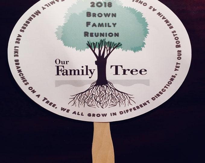 Family Reunion Fans - Family Reunion - Fans - Printed - Favors - Fan Favors - Family Reunion