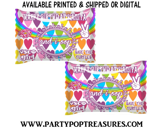 VSCO Fun Size Skittles Candy Wrapper - Rainbow Candies - VSCO Party Favor - Candy Wrapper - Digital - Party Printables