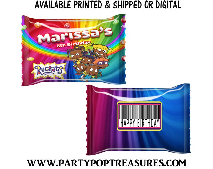 Rugrats Fun Size Skittles Candy Wrapper - Rainbow Candies - Rugrats Party Favor - Candy Wrapper - Digital - Party Printables