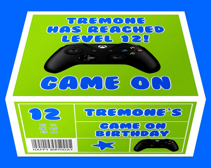 Game On Favor Box - Game On Favor Box Labels - Video Gamer Gift Box Label - Video Gamer - Treat Box - Digital File - Party Printable