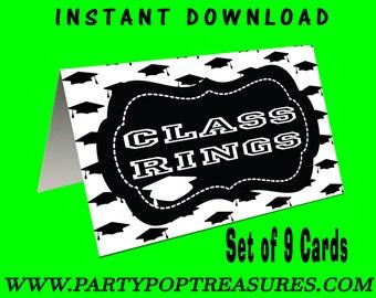 Graduation Tent Cards - INSTANT DIGITAL DOWNLOAD - File Not Editable - Graduation Party Decor - Digital File - Printed - Party Printables