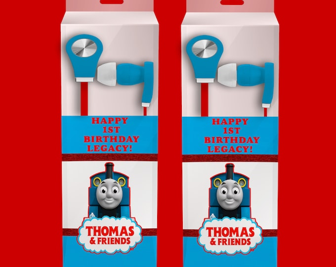 Thomas the Train Earbud Label - Headphone Labels - Custom Party Favors - Goody Bags - Birthday Party Printables - Digital - Printed